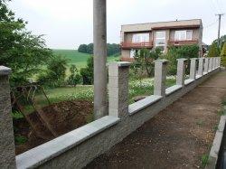 Realizace zděného plotu šilheřovice