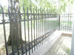 Kovaný plot hřbitov Slezská Ostrava