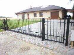 Plot, kovaný, samonosná brána, Šilheřovice